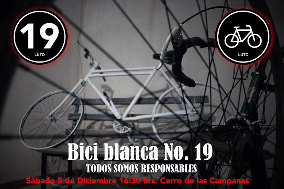 bici blanca num 19