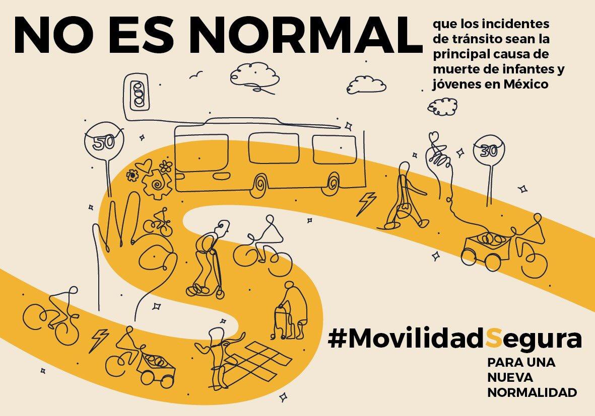 No es normal que incidentes de tránsito sean la principal causa de muerte de infantes y jóvenes en México
