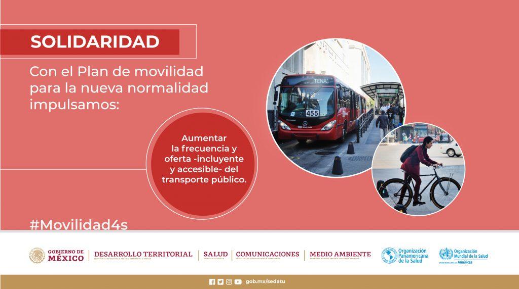 Aumentar la frecuencia y oferta - incluyente y accesible - del transporte público.